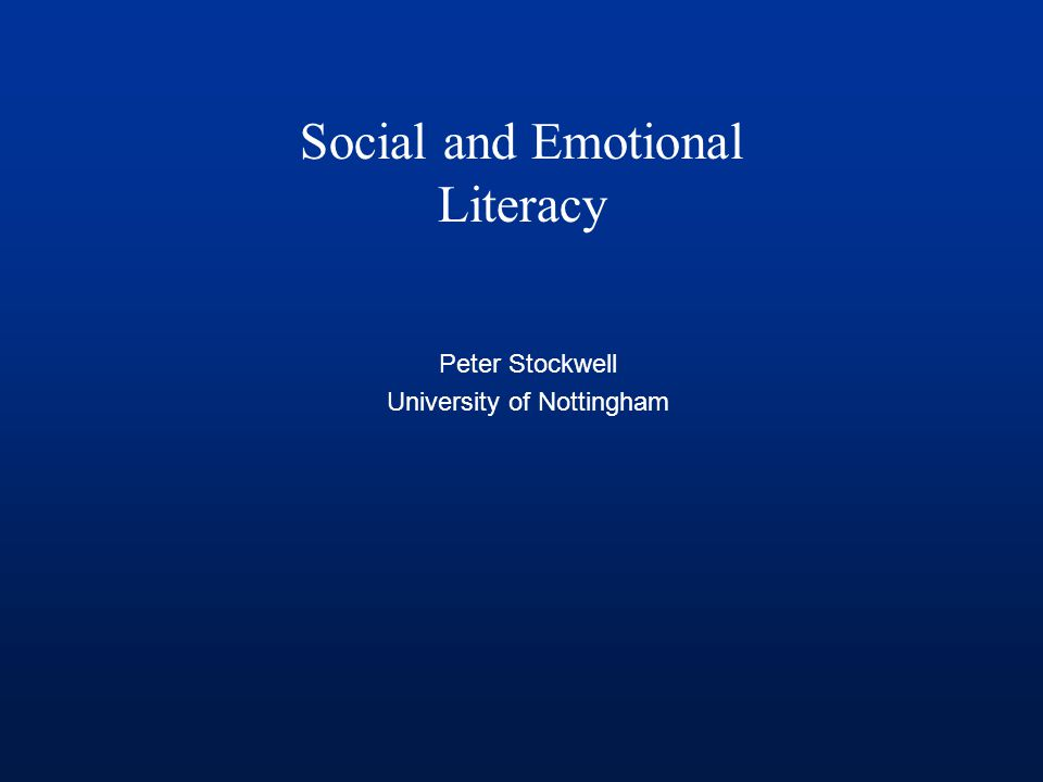 Social and Emotional Literacy