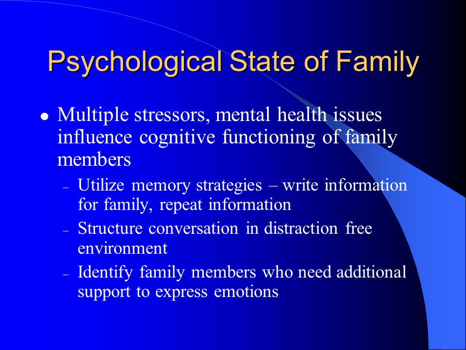 Psychological State of Family