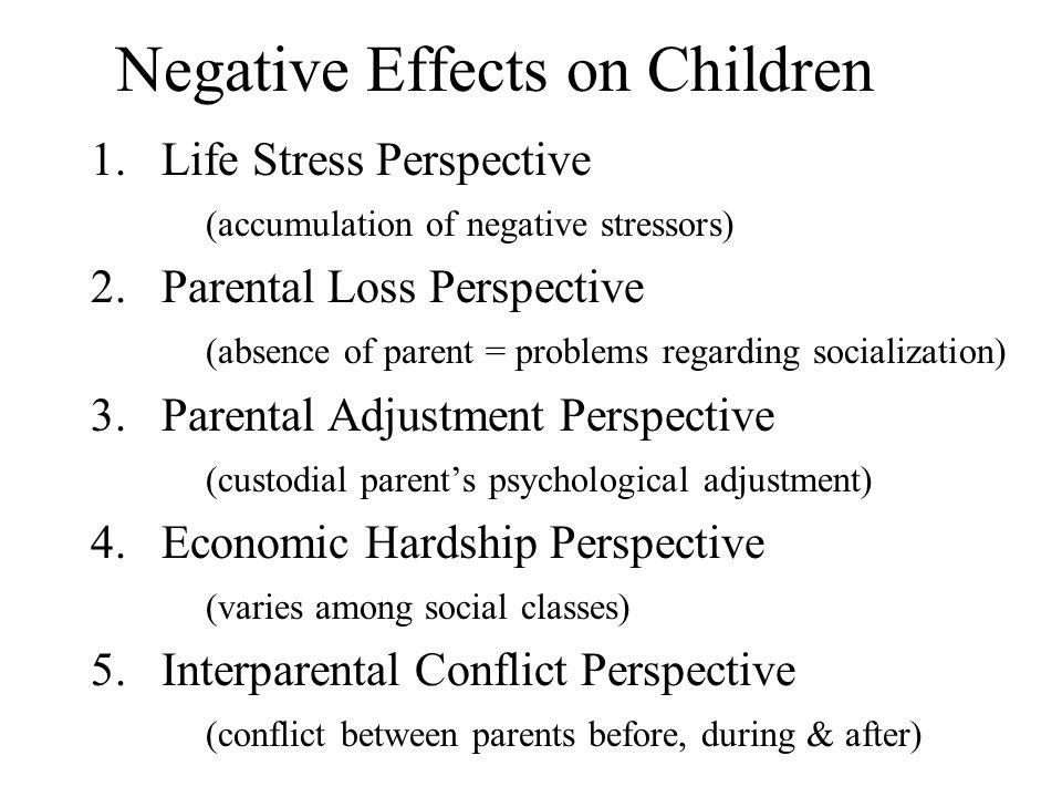 Negative Effects on Children
