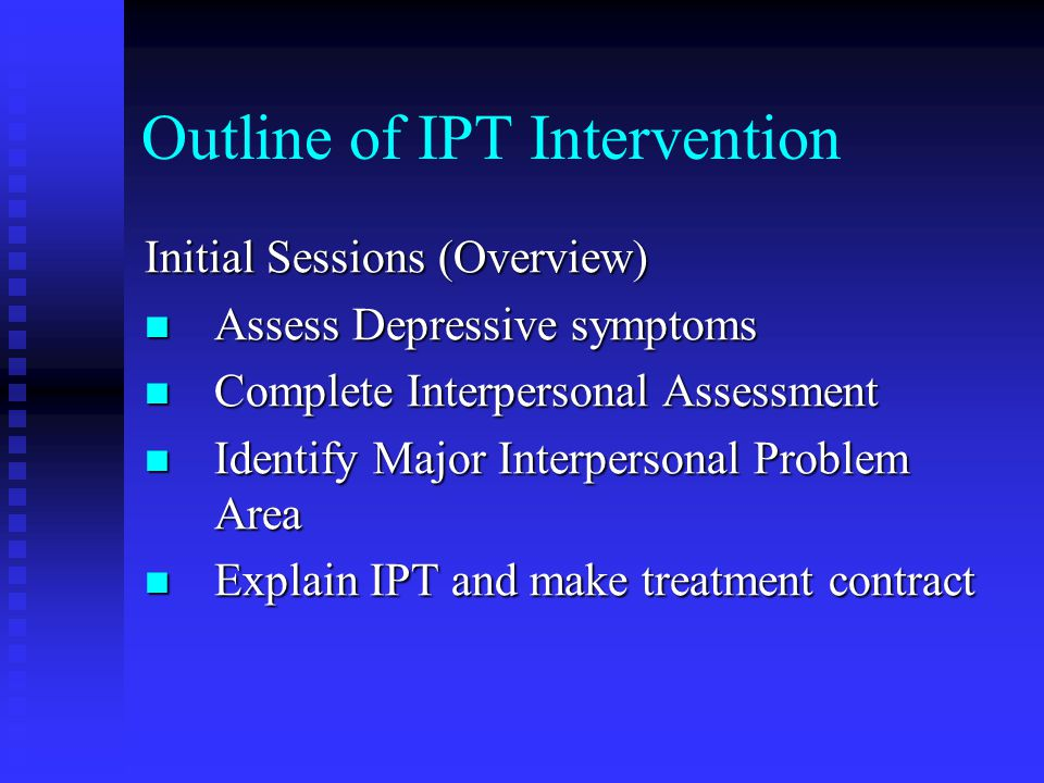 Outline of IPT Intervention