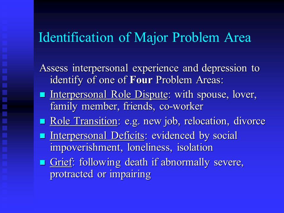 Identification of Major Problem Area