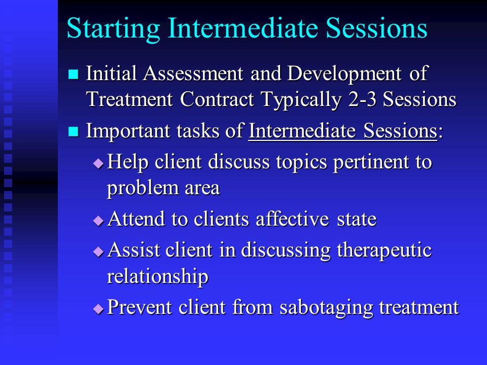 Starting Intermediate Sessions
