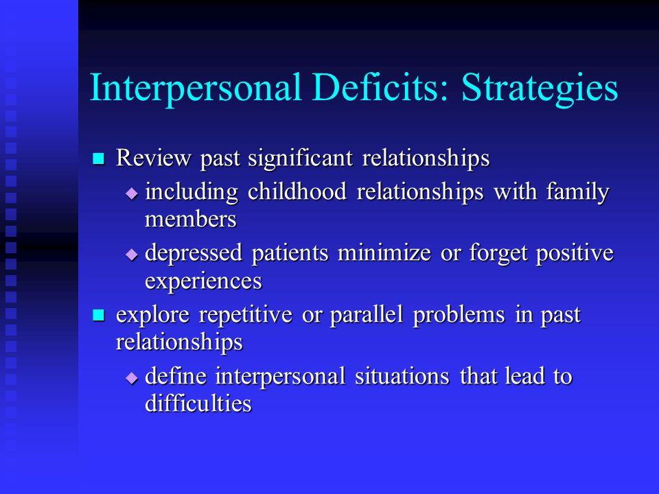 Interpersonal Deficits: Strategies