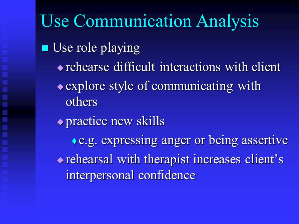 Use Communication Analysis