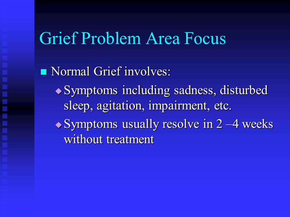 Grief Problem Area Focus