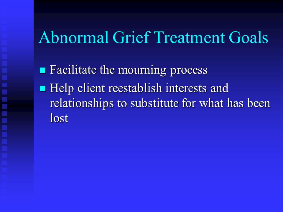 Abnormal Grief Treatment Goals