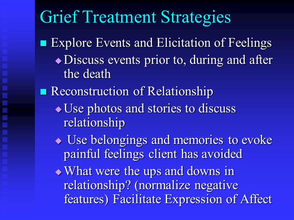 Grief Treatment Strategies