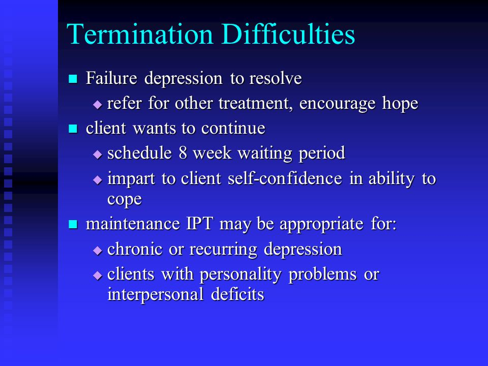 Termination Difficulties