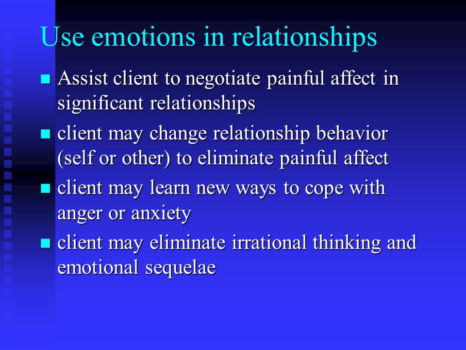 Use emotions in relationships