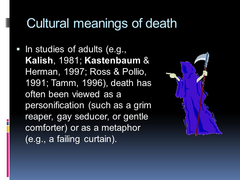 Cultural meanings of death