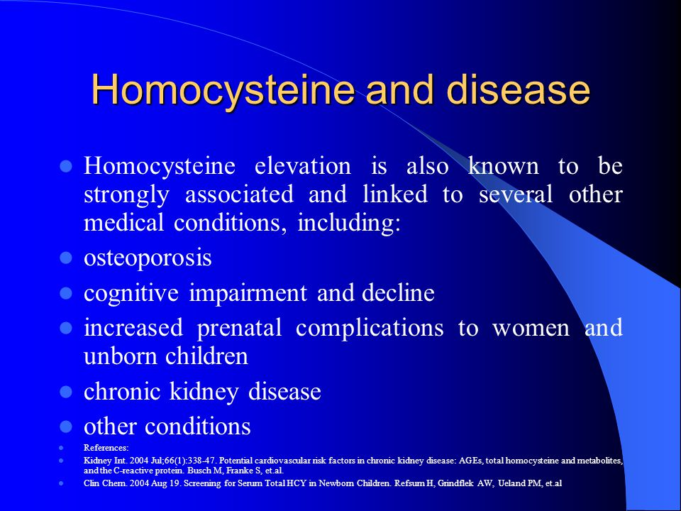 Homocysteine and disease