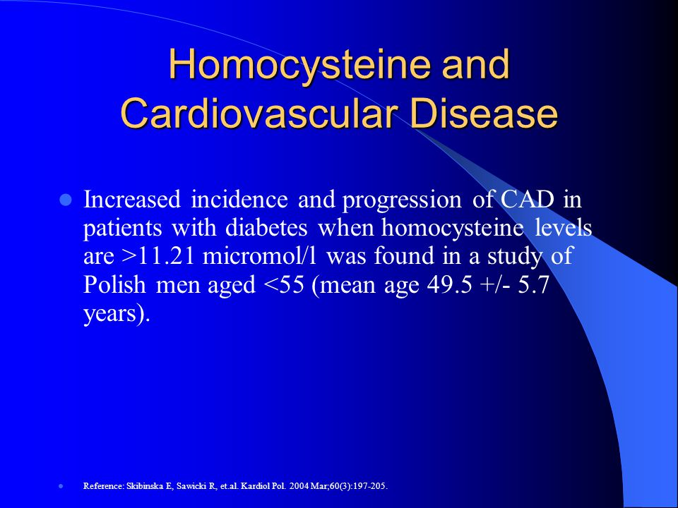 Homocysteine and Cardiovascular Disease