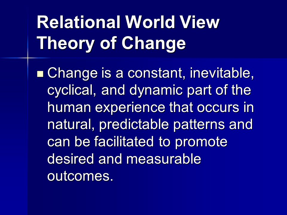 Relational World View Theory of Change