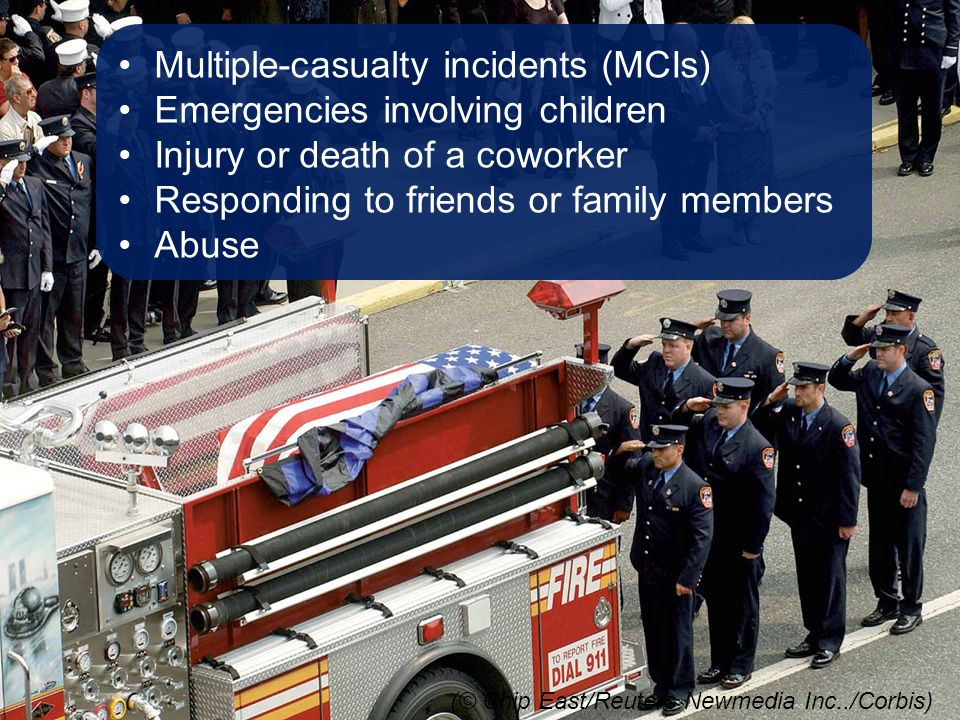 Multiple-casualty incidents (MCIs) Emergencies involving children