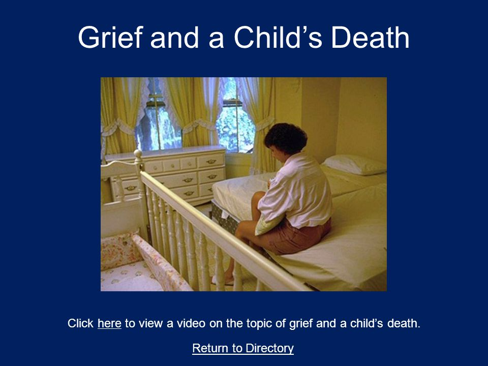 Grief and a Child's Death