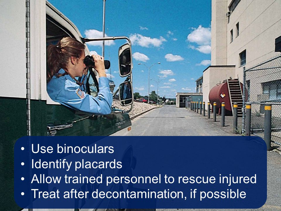Allow trained personnel to rescue injured