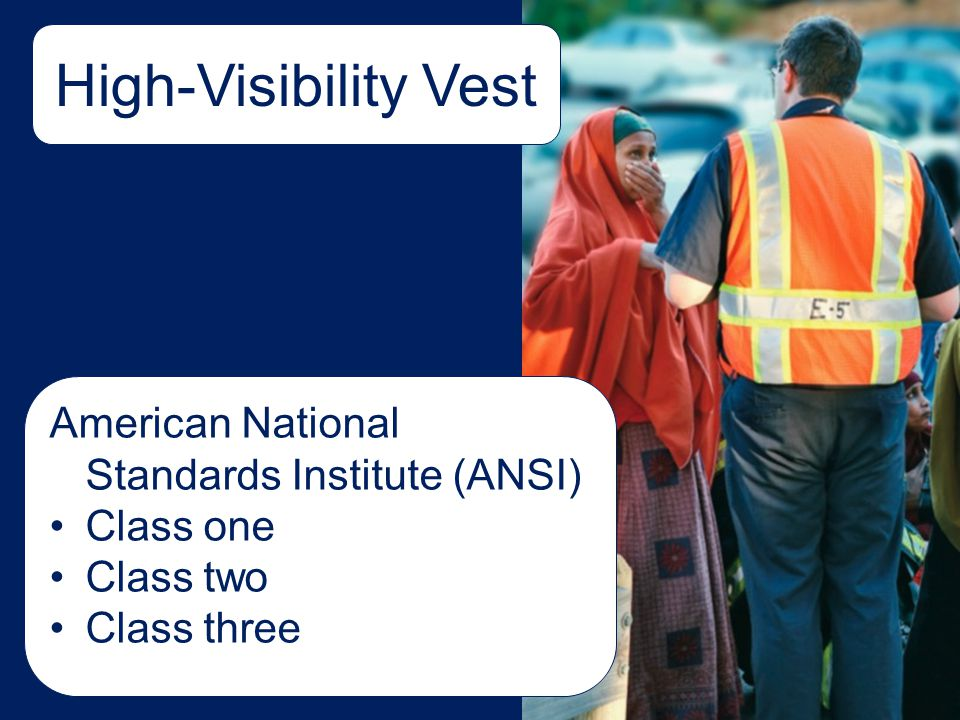 High-Visibility Vest American National Standards Institute (ANSI)