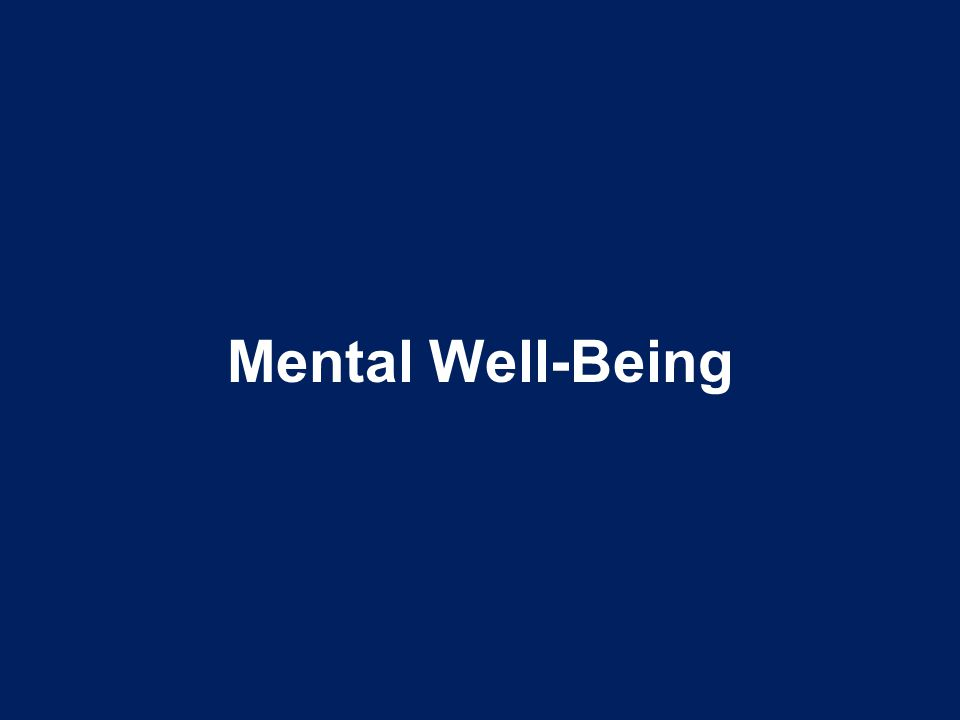 Mental Well-Being Talking Points