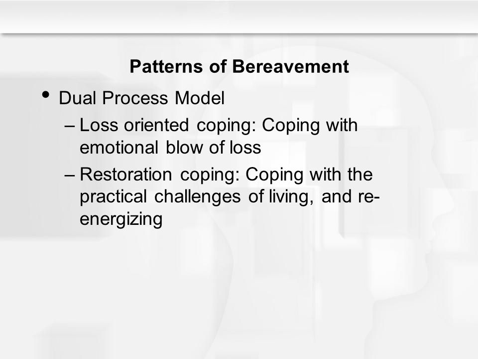 Patterns of Bereavement