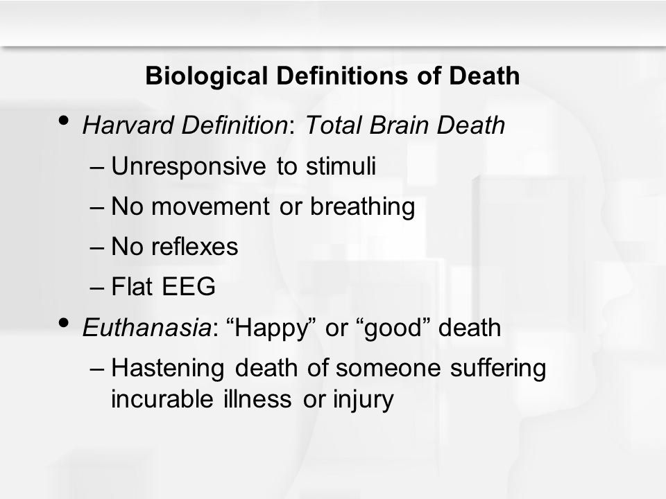 Biological Definitions of Death