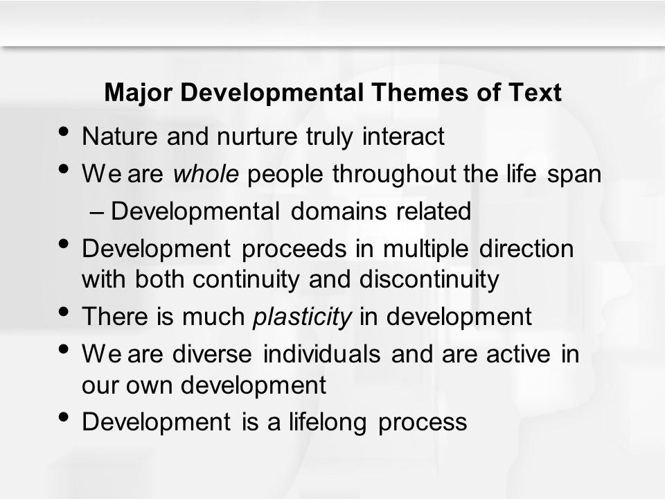 Major Developmental Themes of Text