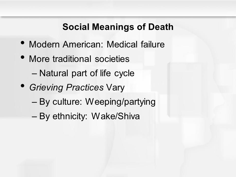 Social Meanings of Death