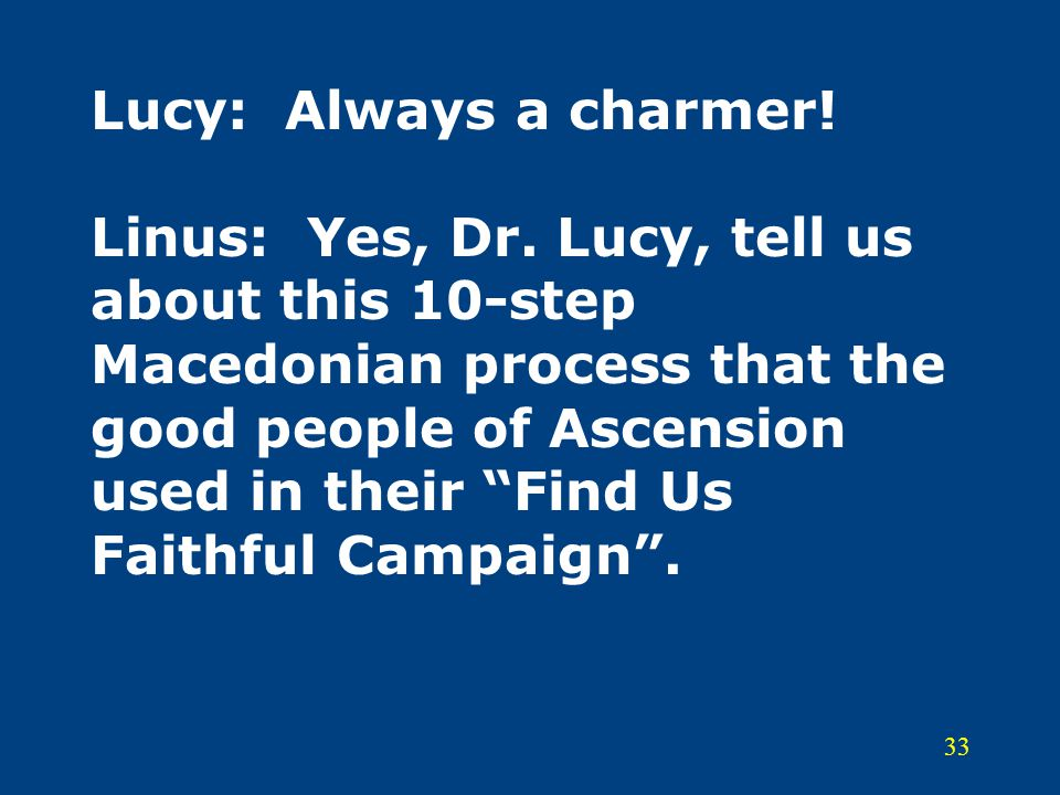 Lucy: Always a charmer. Linus: Yes, Dr