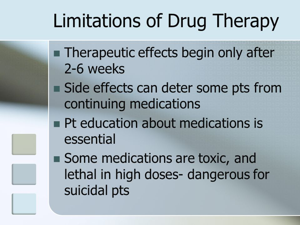 Limitations of Drug Therapy