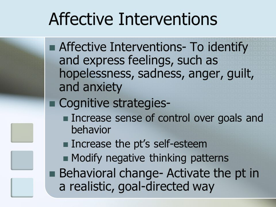 Affective Interventions