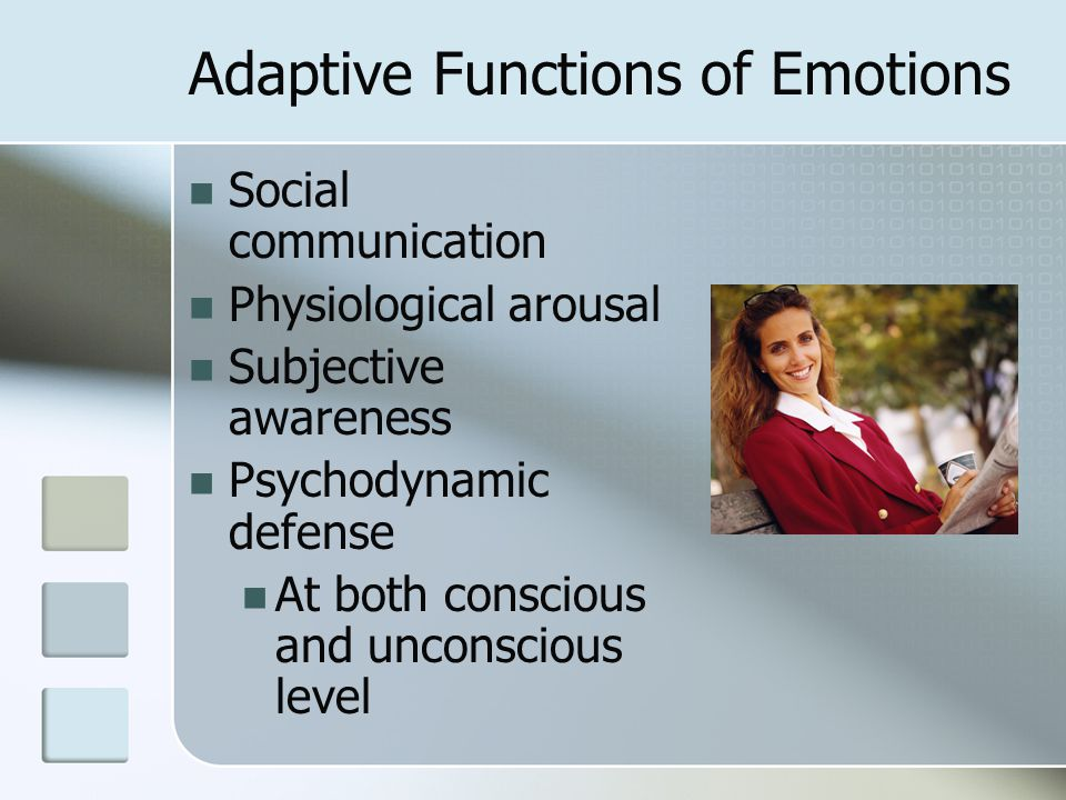 Adaptive Functions of Emotions