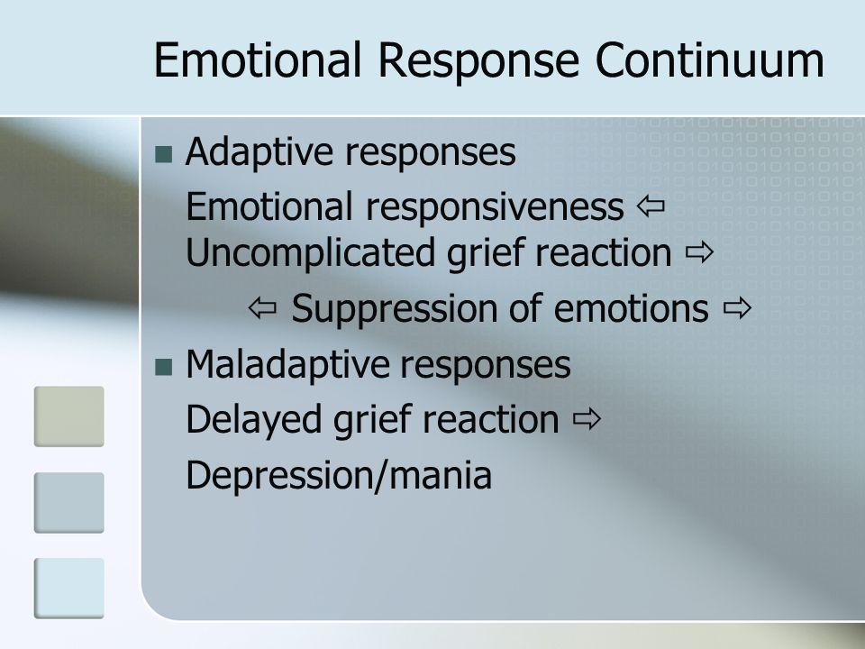 Emotional Response Continuum