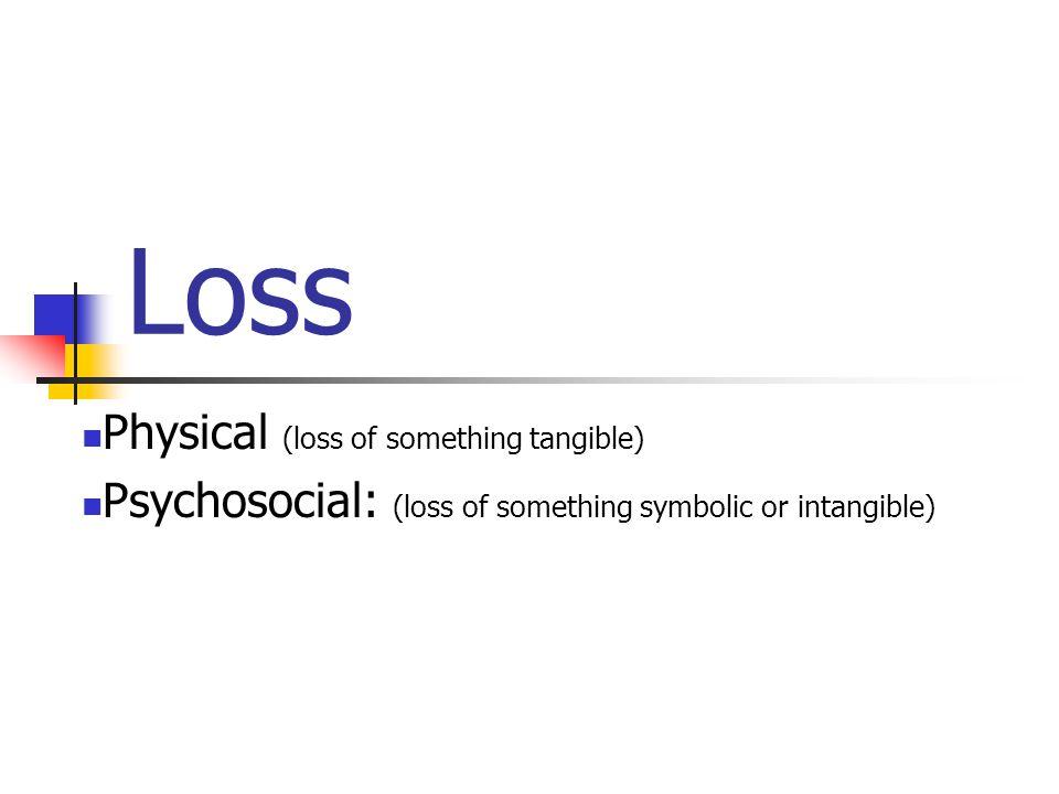 Loss Physical (loss of something tangible)