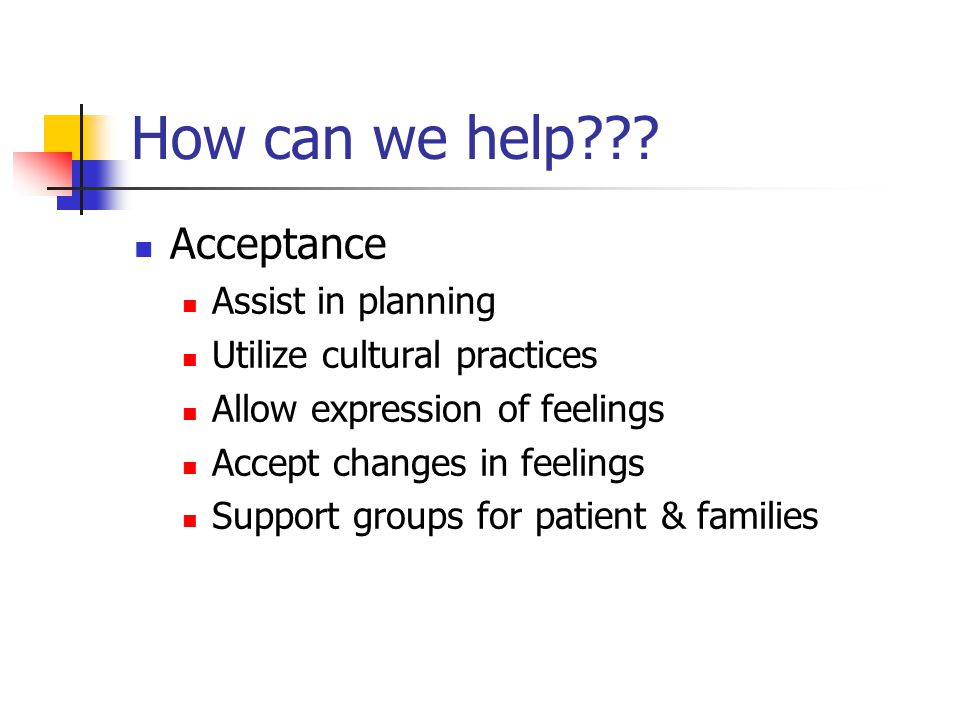 How can we help Acceptance Assist in planning