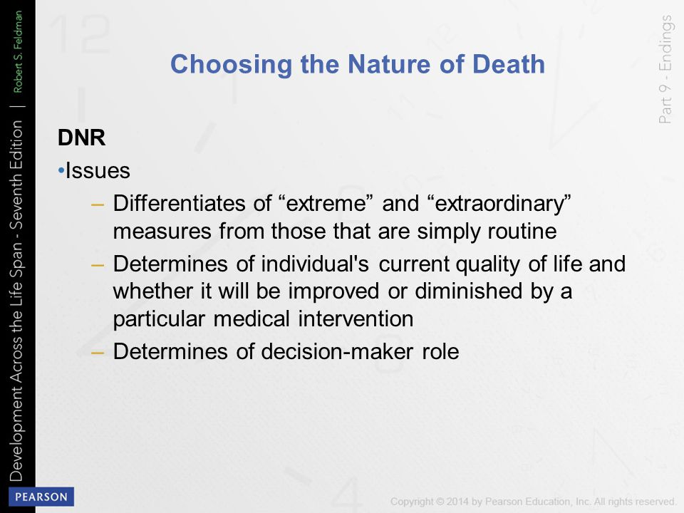 Choosing the Nature of Death