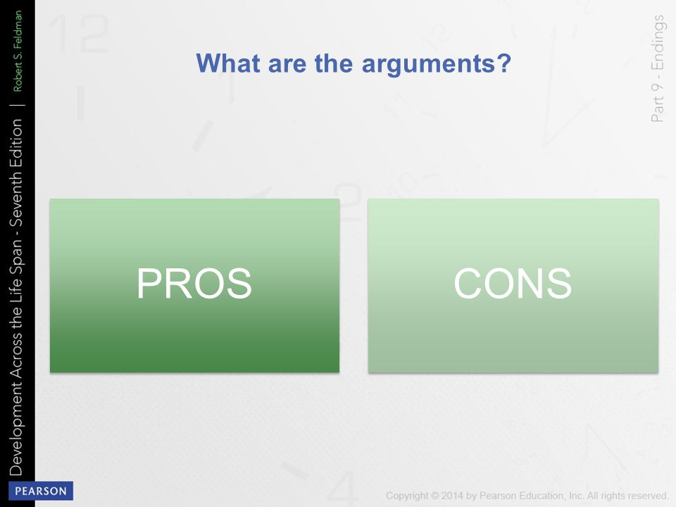 PROS CONS What are the arguments
