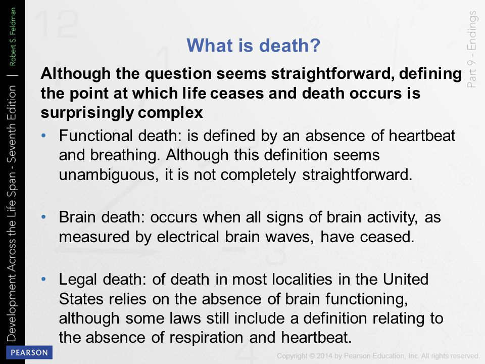 What is death Although the question seems straightforward, defining the point at which life ceases and death occurs is surprisingly complex.