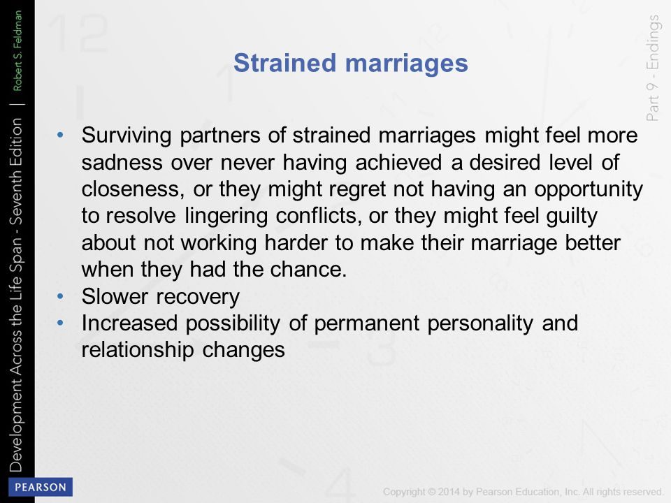 Strained marriages