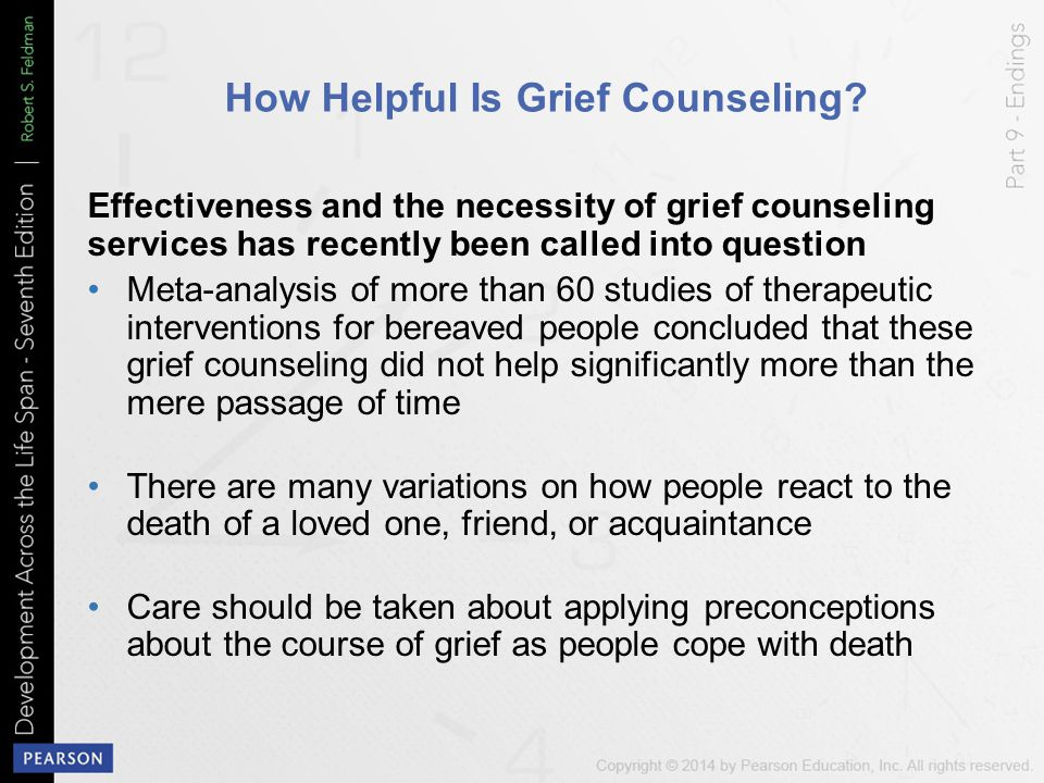 How Helpful Is Grief Counseling