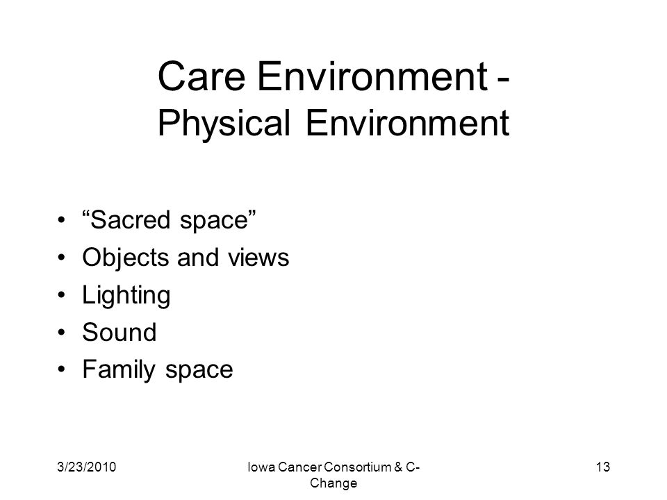 Care Environment - Physical Environment