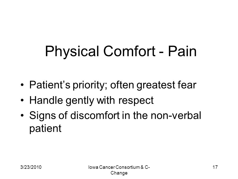 Physical Comfort - Pain