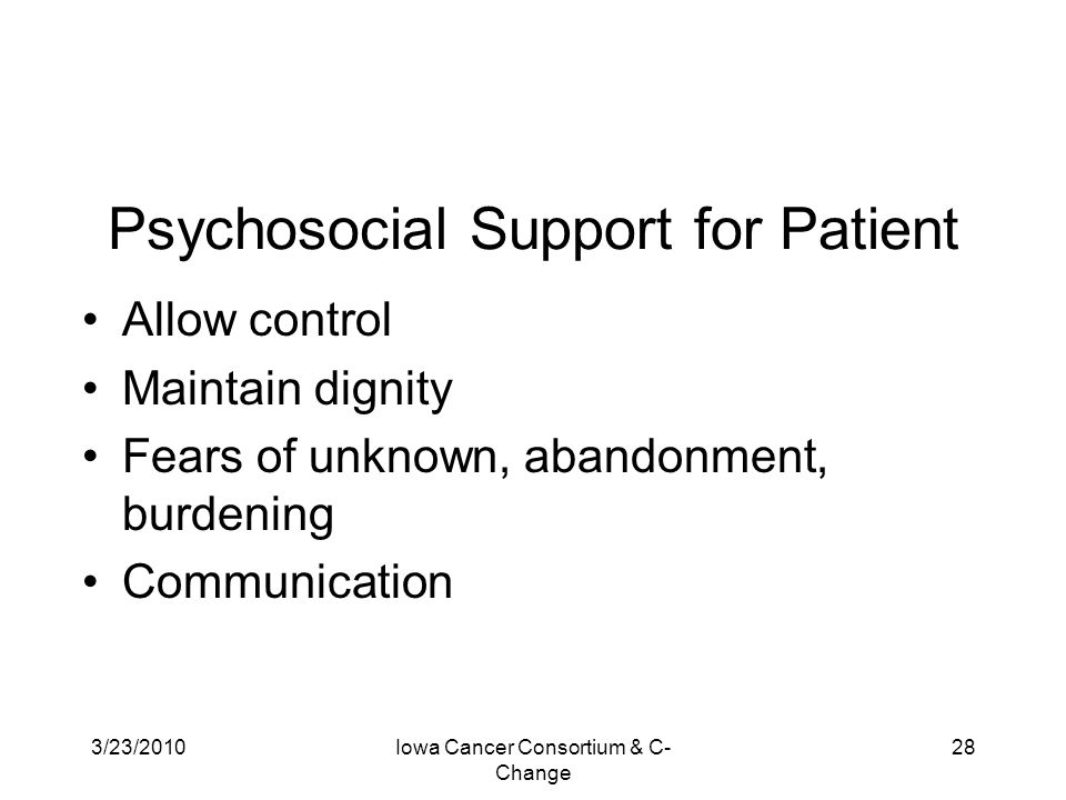 Psychosocial Support for Patient