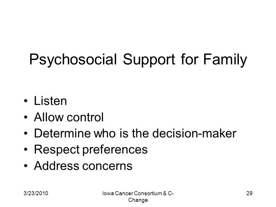 Psychosocial Support for Family