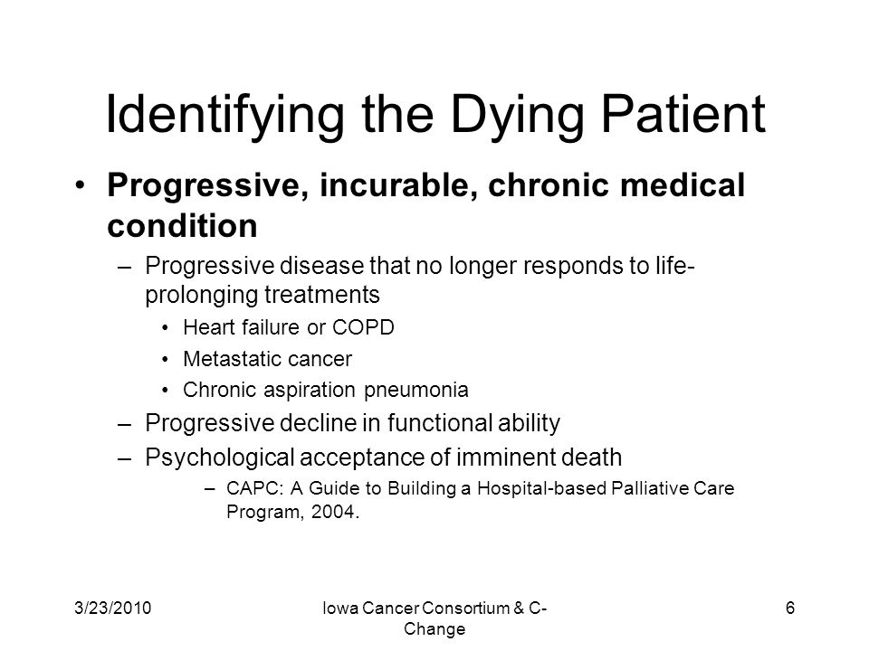 Identifying the Dying Patient