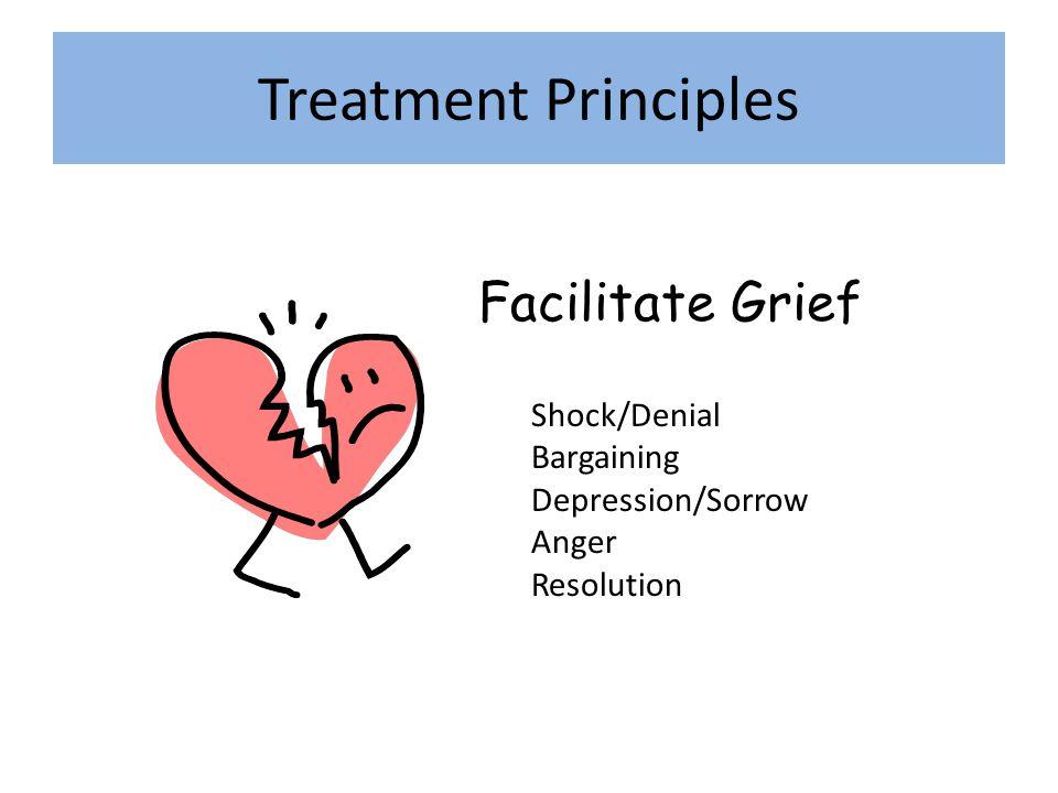 Treatment Principles Facilitate Grief Shock/Denial Bargaining