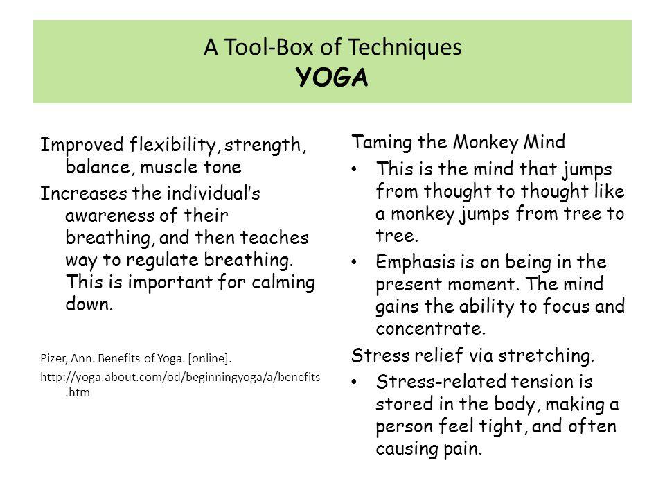 A Tool-Box of Techniques YOGA