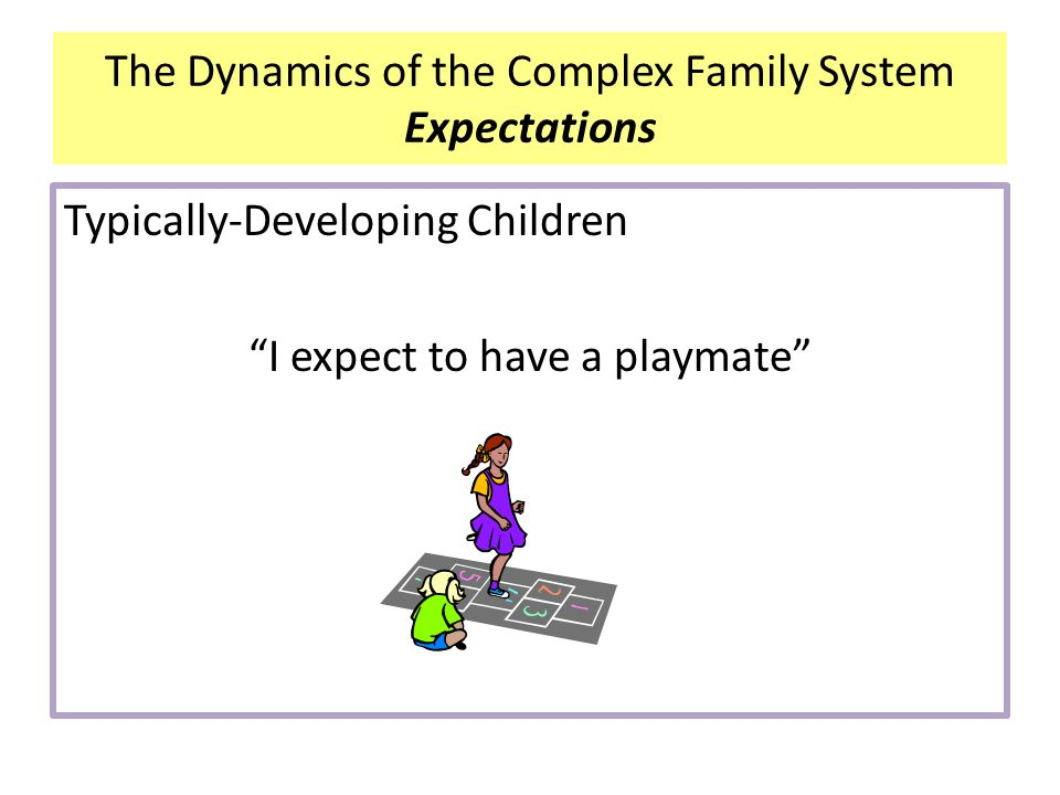 The Dynamics of the Complex Family System Expectations