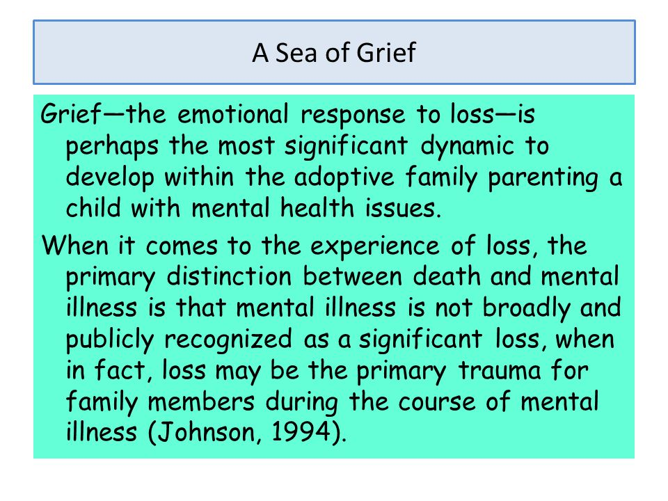 A Sea of Grief