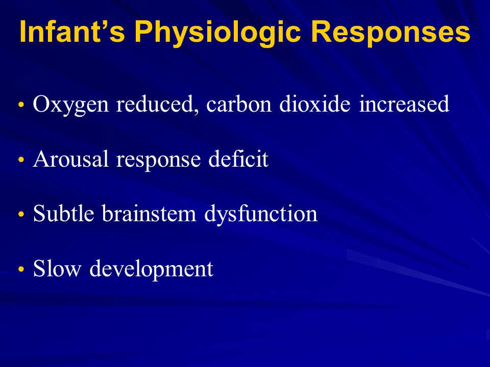 Infant's Physiologic Responses