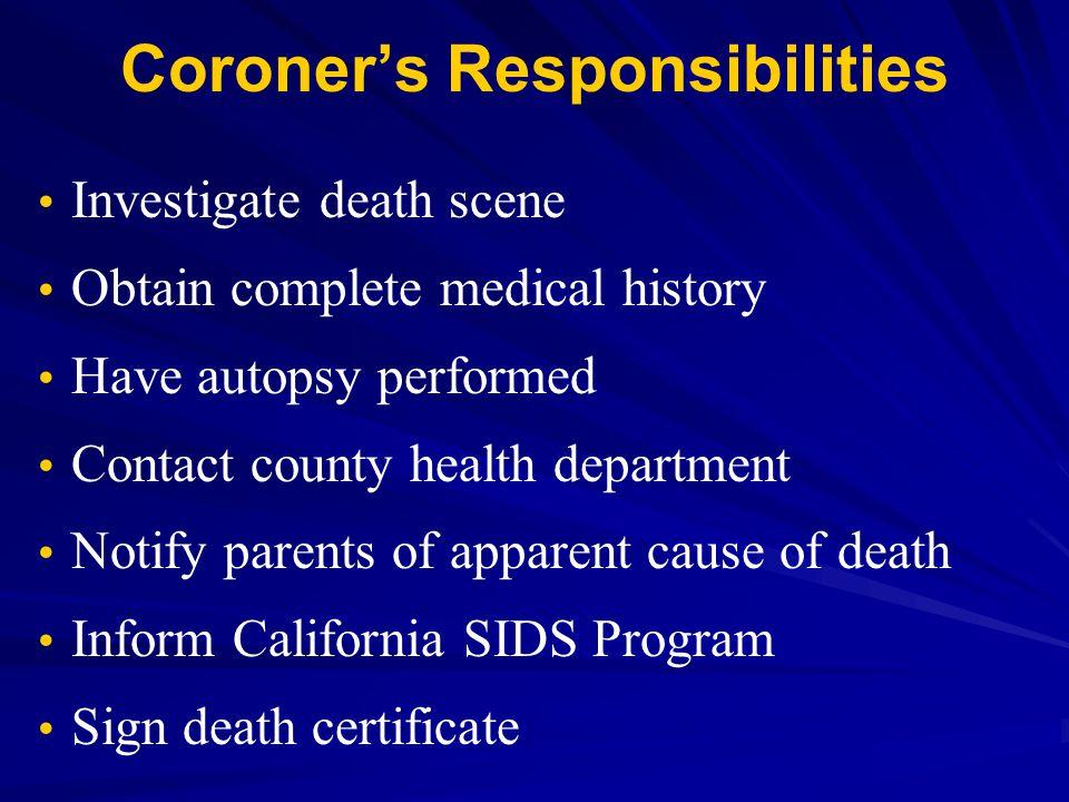 Coroner's Responsibilities