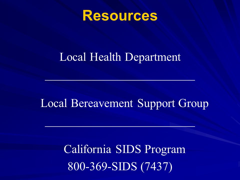 Resources Local Health Department
